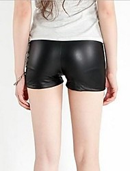 Frauen Pu-Leder-Shorts Hosen