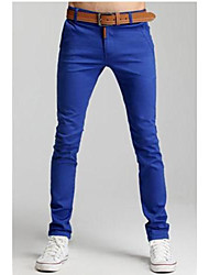 Casual color del caramelo Pantalones Slim