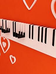 Novidade Piano Criativo Forma Chave Ganchos de parede