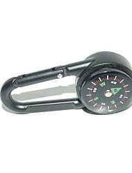 Key Chain di alta qualità doppio fronte Compass + Termometro--Black