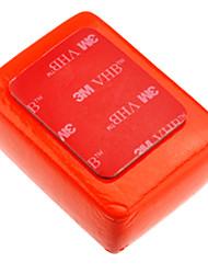 Flutuar esponja vermelha para GoPro Hero 3 + / 3/2/1 com a 3M Adesivo