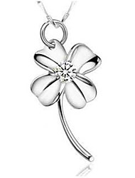 Baidai Women's Charming Clover Pattern Platinum Printing Dangling Without Necklace