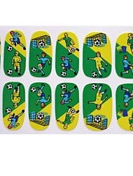 2014 Most Popular Brazil Football World Cap Pattern Nail Art Stickers Foil For Long Nails