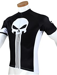 PALADIN Cycling Tops / Jerseys Men's Bike Breathable / Ultraviolet Resistant / Quick Dry Short Sleeve 100% Polyester Skulls White / Black