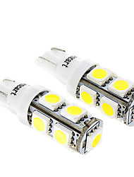 9SMD 5050LED White Light Bulb for Motorcycle Brake/Turning Signal Lamps (2W,2-Pack, DC12-16V)
