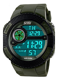 SKMEI Hommes Montre de Sport Montre numérique Quartz Numérique Quartz Japonais LED Calendrier Chronographe Etanche penggera Polyuréthane