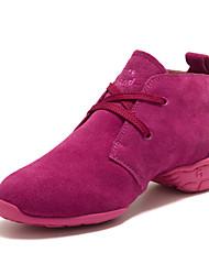 Mujeres Suede Alta cordones de baile de salón modernos zapatos de baile de las zapatillas de deporte (más colores) (Elegir tamaño medio más pequeño)