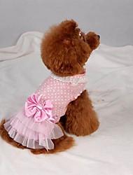 Dog Dress Pink Summer Polka Dots