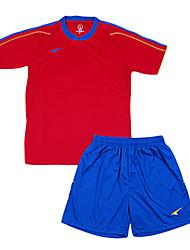 les maillots de football de l'enfant (rouge et bleu / Espagne)