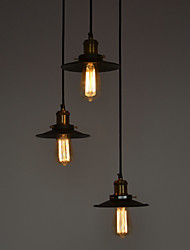 60 Lampe suspendue ,  Traditionnel/Classique Vintage Saladier Peintures Fonctionnalité for Style mini MétalChambre à coucher Salle à