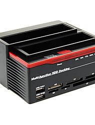 892U2IS All in One HDD USB 2.0 a SATA Dual-Docking Station per 3,5 SATA HDD (Black & Red)