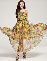 Women's Dresses , Polyester Roumay