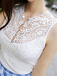 love TT Women's Fashion New Elegant Sleeveless Lace Vest 1699