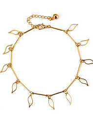 Classique des feuilles creuses-out en alliage d'or femmes Bracelets de cheville (27.5cm * 1.6cm * 0.1cm) (1 PC)