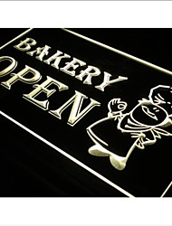 i175 OPEN Bakery Shop Bread Display Neon Light Signs