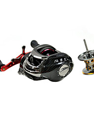 DYNAMIC Right Handle 10+1 Ball Bearing Black Casting Reel (Extra Line Cup)