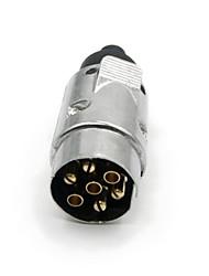 Type de Tirol 7 broches remorque Prise 7 pôles Pin rond Bande de câblage connecteur 12V Attelage de remorquage Plug N Remorque Fin