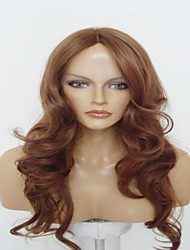 Capless Long Chestnut Brown  Wavy High Quality Synthetic Japanese 100% Imported Heat-resistant Fiber  Wigs