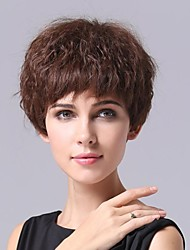Light  Brown Fiber Curly Attractive Women's Short Hair Wig
