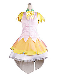 Beyond the Boundary Ai Shindō Yellow & White Satin Cosplay Costume