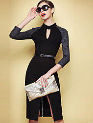 CoCo Zhang Women's New Style Sexy 3/4 Sleeve Elegant Dress