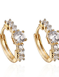 BIN BIN Women's 18K Gold Zircon Earings ER0562