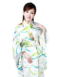 Japanese Daffodil Goddess Deluxe White Polyester Women's Ethnic Costume