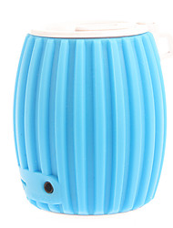 Grenade Style Portable Bluetooth v3.0 + EDR 2-CH Speaker with Microphone / TF (Blue&White)