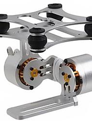 2 eixos de alumínio sem escova Camera Monte Gimbal com Motor para Gopro3 DJI Fantasma