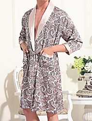 Herrenmode Freizeit Silk Robe