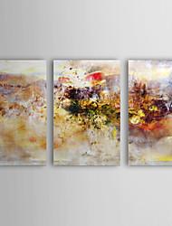 iarts®oil peinture accident abstrait avec étiré ensemble de 3 toiles peintes à la main frame