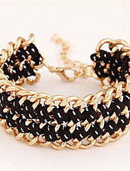 Kushang Fashion Weave Simple Weave Bracelet (Black)