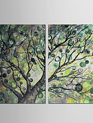 Hand Painted Oil Painting Landscape  Trees with Stretched Frame Set of 2
