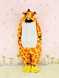 New Cosplay Giraffe Flannel Toilet version Children Kigurumi Pajama