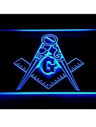 масонская каменщик масоном эмблема неоновый свет
