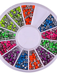 2mm Mixed Color Nail Art Decoraciones Redondez Rivet