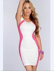Patchwork de la Mujer Mini Vestido Casual