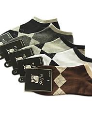 Lattice Pattern hommes de coton chaussettes de sport (5 paires, One-Size EUR39-43)