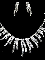 Wedding/Bridal Rhinestone crystal Pearl necklace earring set