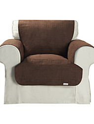 Waterproof Microsuede Brown Solid Cube Quilting Chair Cover