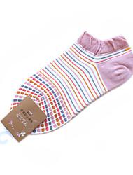 La raie de modèle de coton de femmes Chaussettes de sport (couleurs assorties, One-Size EUR36-39)