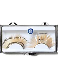 Fancy Long False Feather Eyelashes Makeup Eye Lashes For Party 023