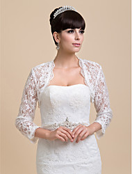Personalized Half Sleeve Lace Wedding/Party Wraps(More Colors) Bolero Shrug