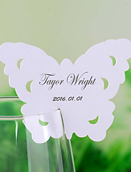 Place Cards and Holders Chic Butterfly Shaped Place Card for Wine Glass - Set of 12