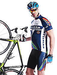 MYSENLAN® Cycling Jersey with Shorts Men's Short Sleeve Bike Breathable / Quick Dry / Wearable / 3D PadPadded Shorts/Chamois / Jersey +