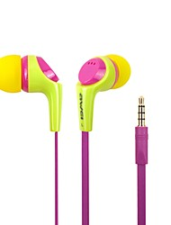 Mode AWEI Q6i 3.5mm In-Ear alliage d'aluminium Super Bass Microphone Ecouteurs (jaune / / Bleu)