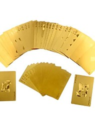 24K feuille d'or Poker Playing Cards