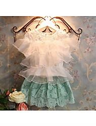 De Princesa de la muchacha del verano lindo del bordado del cordón Cut Out Minifalda