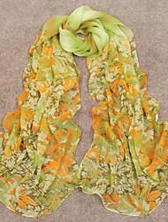 De la Mujer Elegante Multicolor Día viento Bloqueador solar pañuelo de gasa
