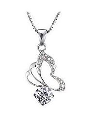 Diamantes collar de mariposa Mengguang Women'sCrystal